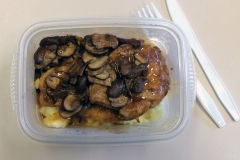 Lunch idea Leftovers chicken mushroom potato