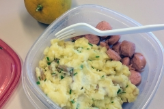 Lunch idea leftover mashed potato and sausage