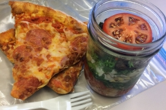 Lunch idea leftovers jar salad pizza