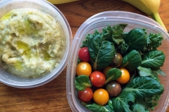 Lunch idea leftovers leek mash