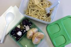 Lunch idea leftovers mushroom pasta chicken