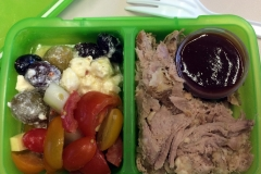 Lunch idea leftovers pulled pork antipasta salad