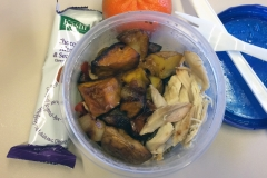 Lunch idea leftovers root vegetables chicken