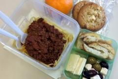 Lunch idea leftovers spaghetti