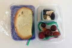 Lunch idea peanut butter sandwich