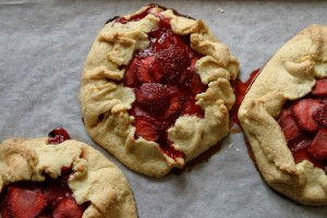 Peasant strawberry tart