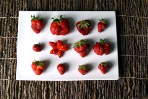 Strawberries with strong personalities.
